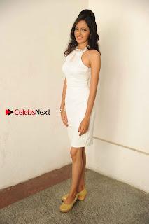 Kannada Actress Nidhi Latest Pos in White Short Dress at Vega Movie Launch Press Meet  0008.jpg