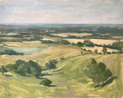 #203 'Morning Light, The Trundle' 24x30cm