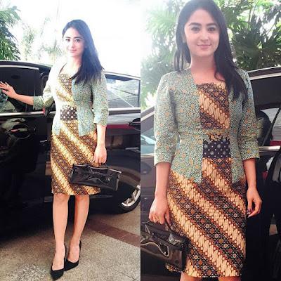 Model baju Kerja Batik Wanita Modis Chic Simple