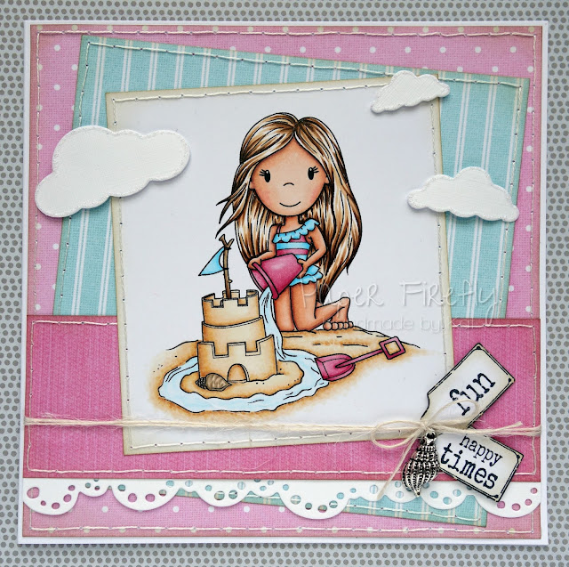Trio of Summer cards for Making Cards magazine feature (Sand castle Ellie by The Paper Nest Dolls)