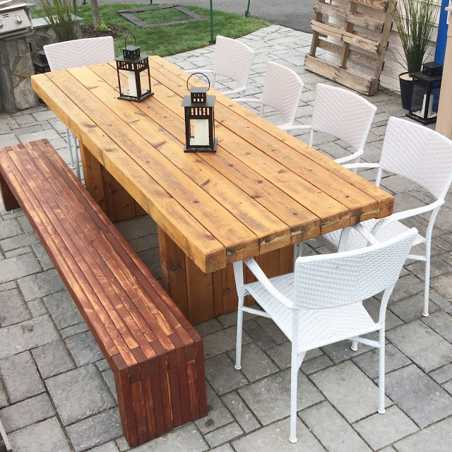 DIY Outdoor Wood Table - LeroyLime