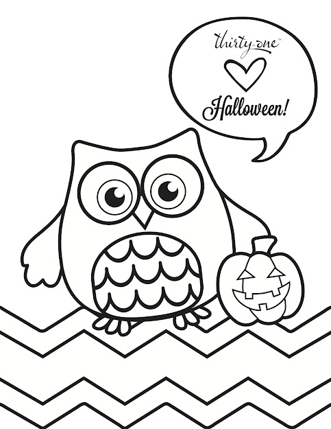 Owlloween Coloring Page
