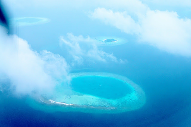 The Maldives from above by Sea Plane