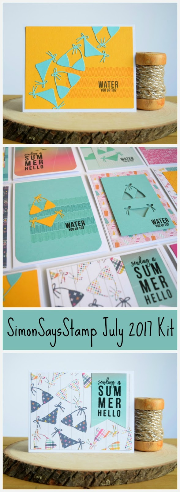 Summer Card by Jess Crafts featuring Simon Says Stamp July 2017 Kit #simonsaysstamp #echoparkpaper
