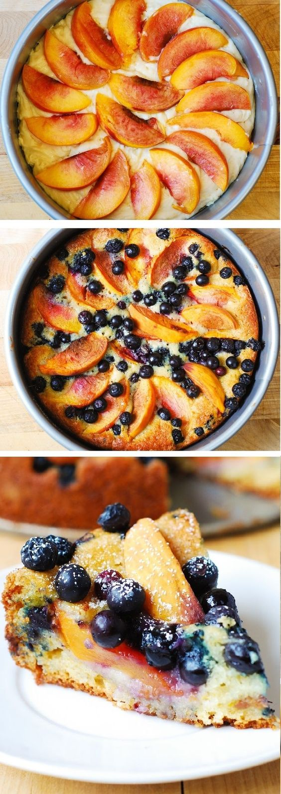 Peach And Blueberry Greek Yogurt