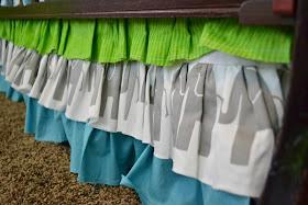 Ruffled Elephant Crib Skirt