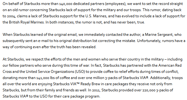 Snopes starbucks marines