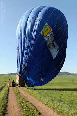 Lot balonem - lądowanie