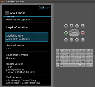 Android emulator with Intel Atom x86 System Image