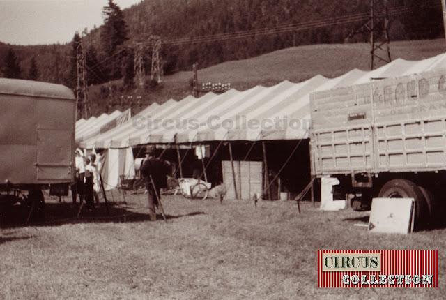 les tentes écuries du cirque