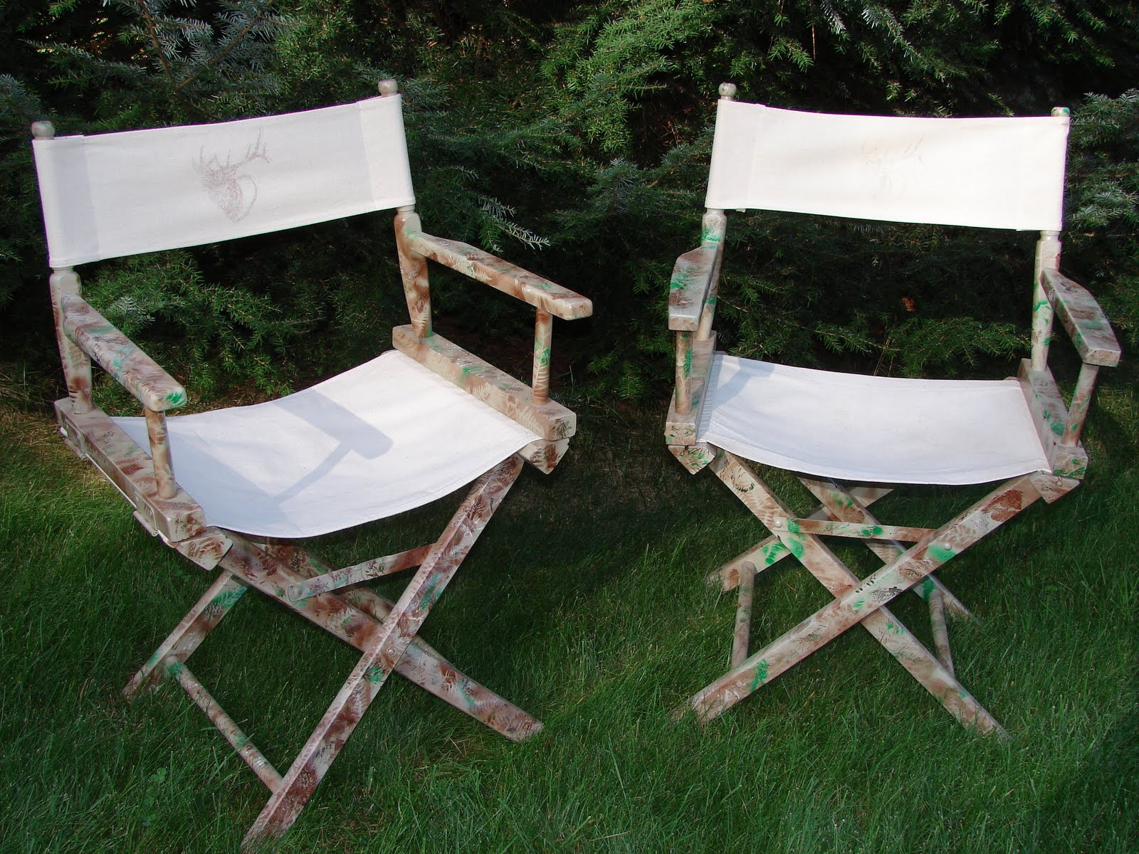 hunting chairs for big men white chair dining table chick in the styx man cave camo