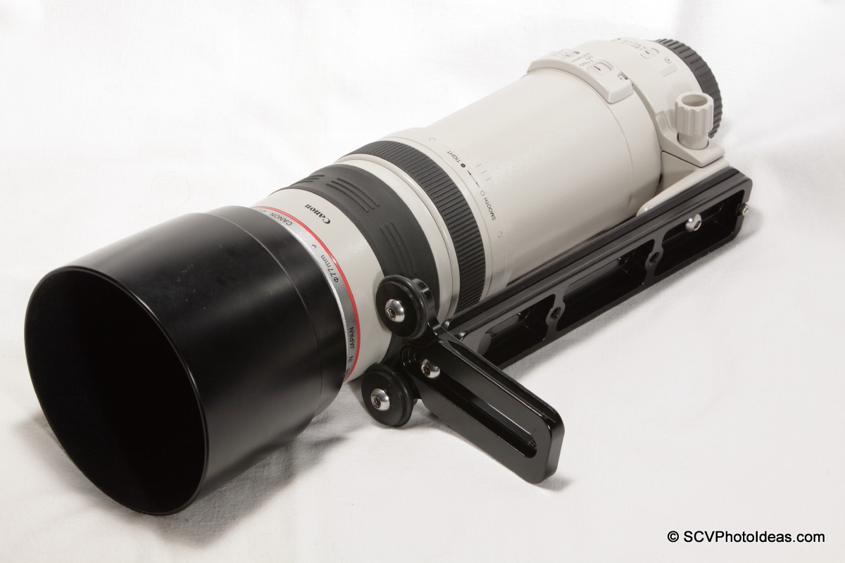 Basic LLSB mounted on Canon EF100-400L-IS-USM lens foot