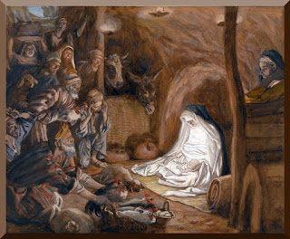 """The Adoration Of The Shepherds"" -- by James Tissot - PD-1923"