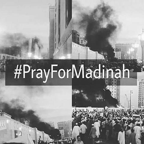 Gambar DP BBM Pray for Madinah dan Pray for Nabawi