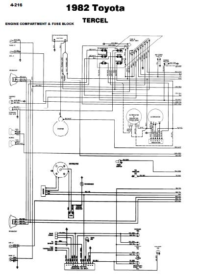 repairmanuals: Toyota Tercel 1982 Wiring Diagrams