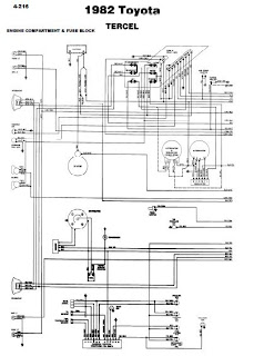 repair-manuals: Toyota Tercel 1982 Wiring Diagrams