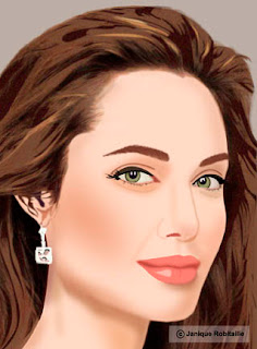 illustration angelina jolie