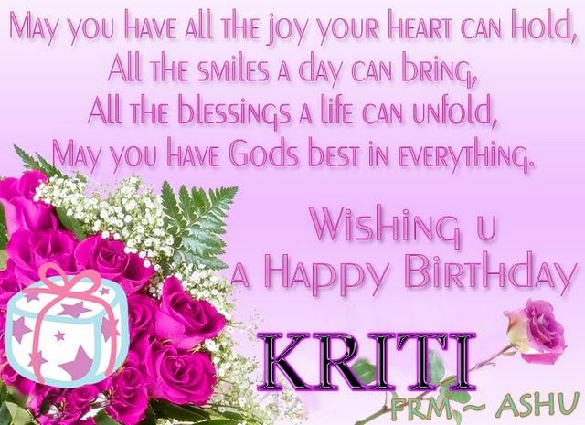 Happy Birthday Kriti