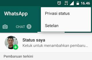 Setelan whatsapp untuk mengaktifkan verifikasi dua langkah