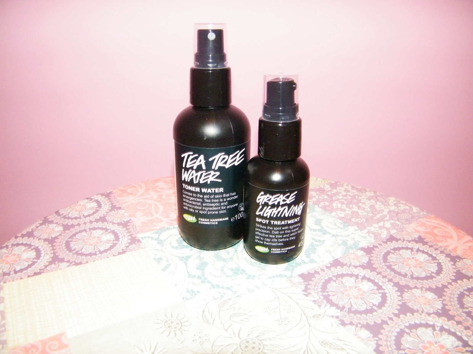LUSH Tea Tree Toner Water and Grease Lightning