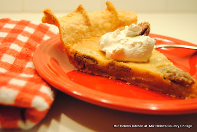 Spicy Pecan Custard Pie at Miz Helen's Country Cottage