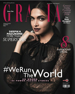 Deepika Padukone on Cover Page of Grazia India magazine April 2016