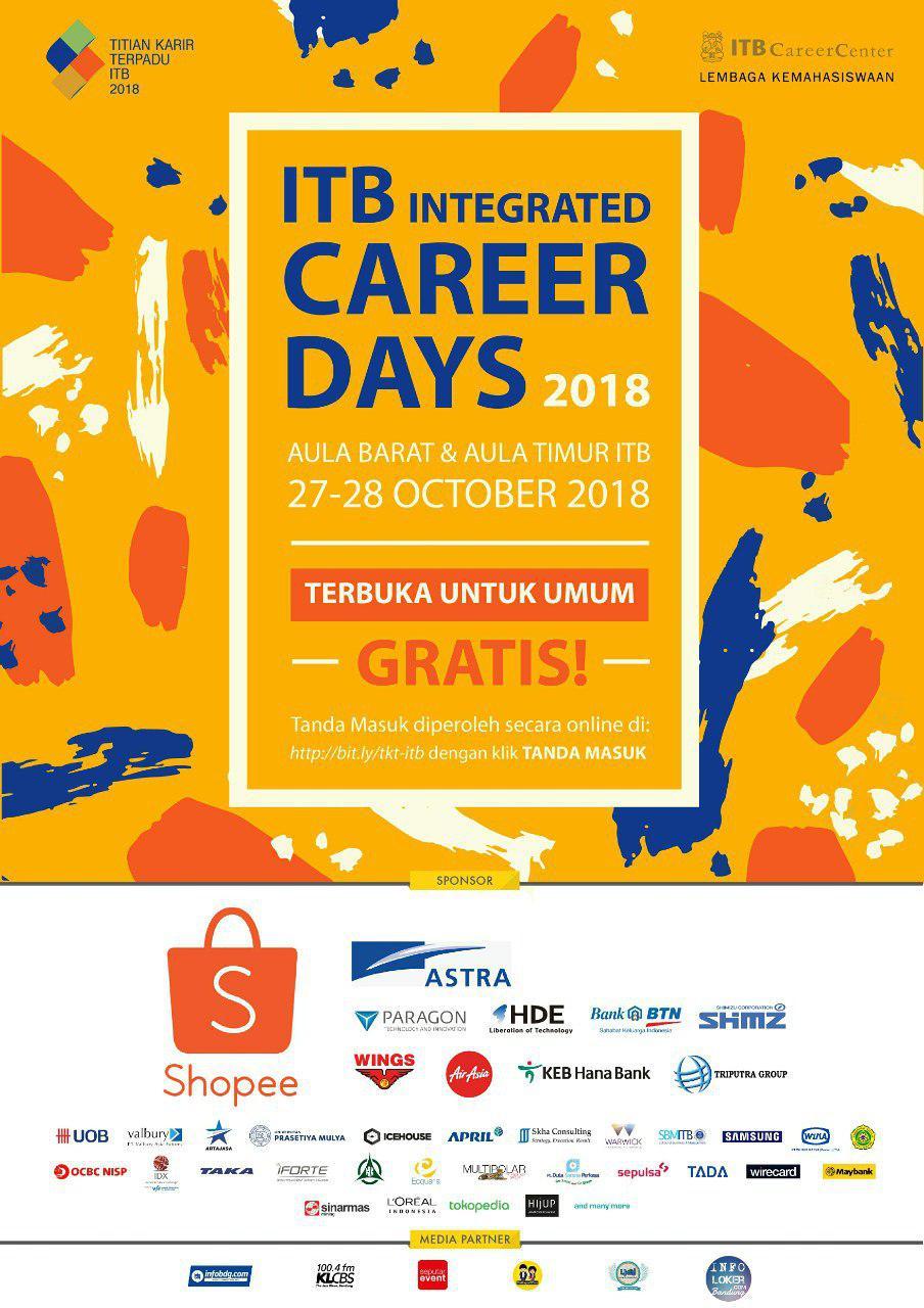Titian Karir Terpadu ITB 27 - 28 Oktober 2018