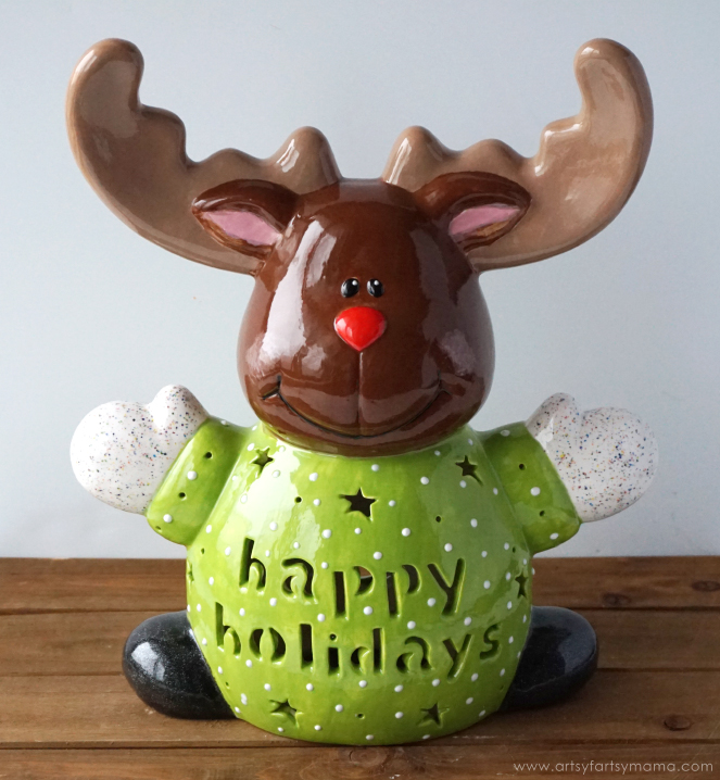 Paint your own Custom Name Carved Reindeer at As You Wish to bring a touch of merriment to your holiday decorations!