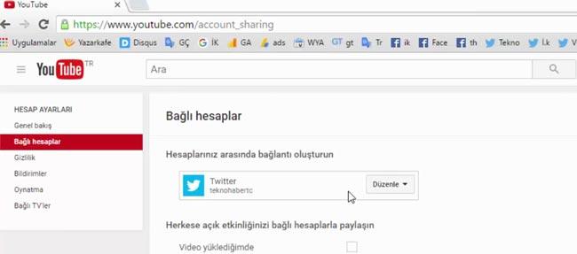 Youtube Twitter Etkileşimini Devre Dışı Bırakma Yada Etkinleştirme