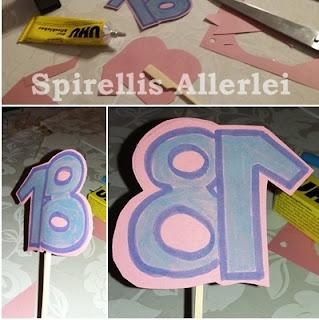 Bastelanleitung zum Basteln für einen Kuchenaufsatz 18