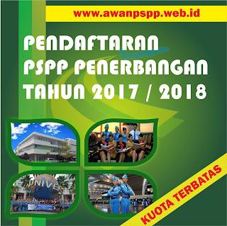 Pendaftaran PSPP Penerbangan tahun 2017 / 2018