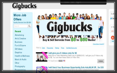 GigBucks dot com- Gigs based site for SEO Freelancers-400x250