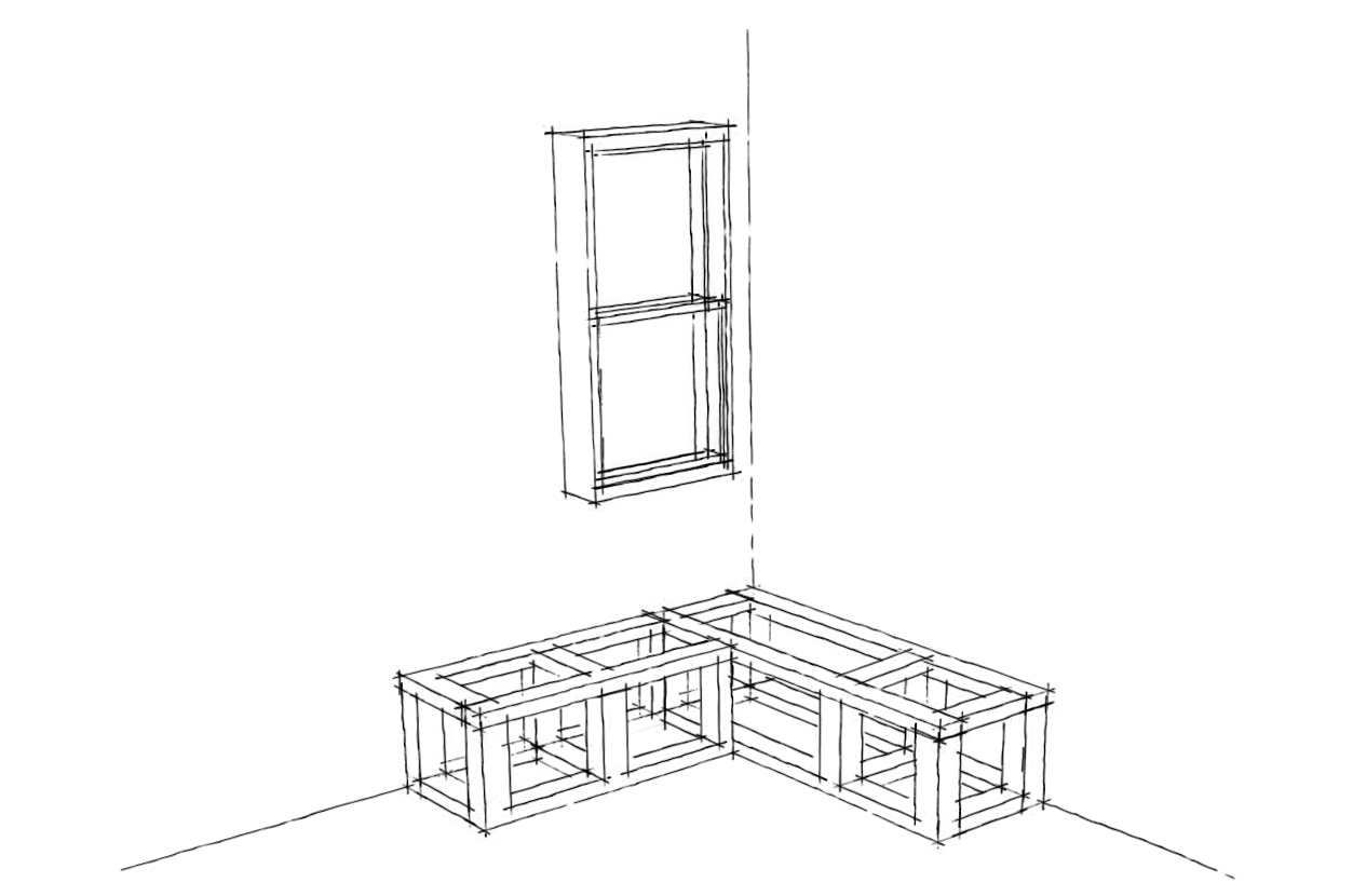 how to build a breakfast nook plans