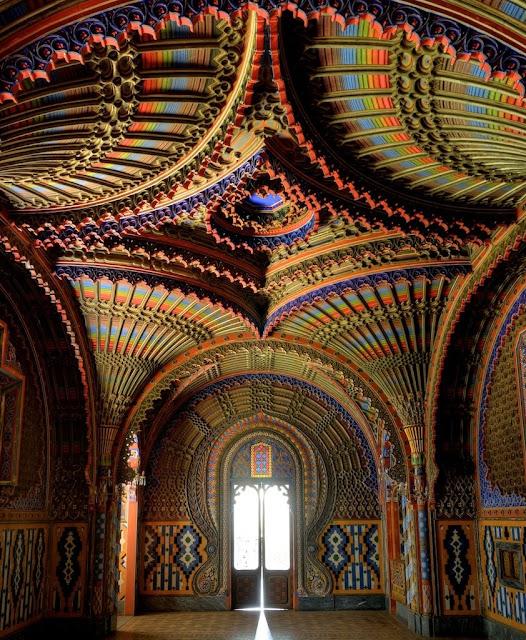 The Peacock room in Castello di Sammezzano, Tuscany