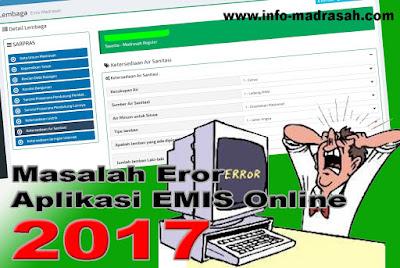 Masalah Eror Aplikasi EMIS Online di https://emispendis.kemenag.go.id/emis_madrasah