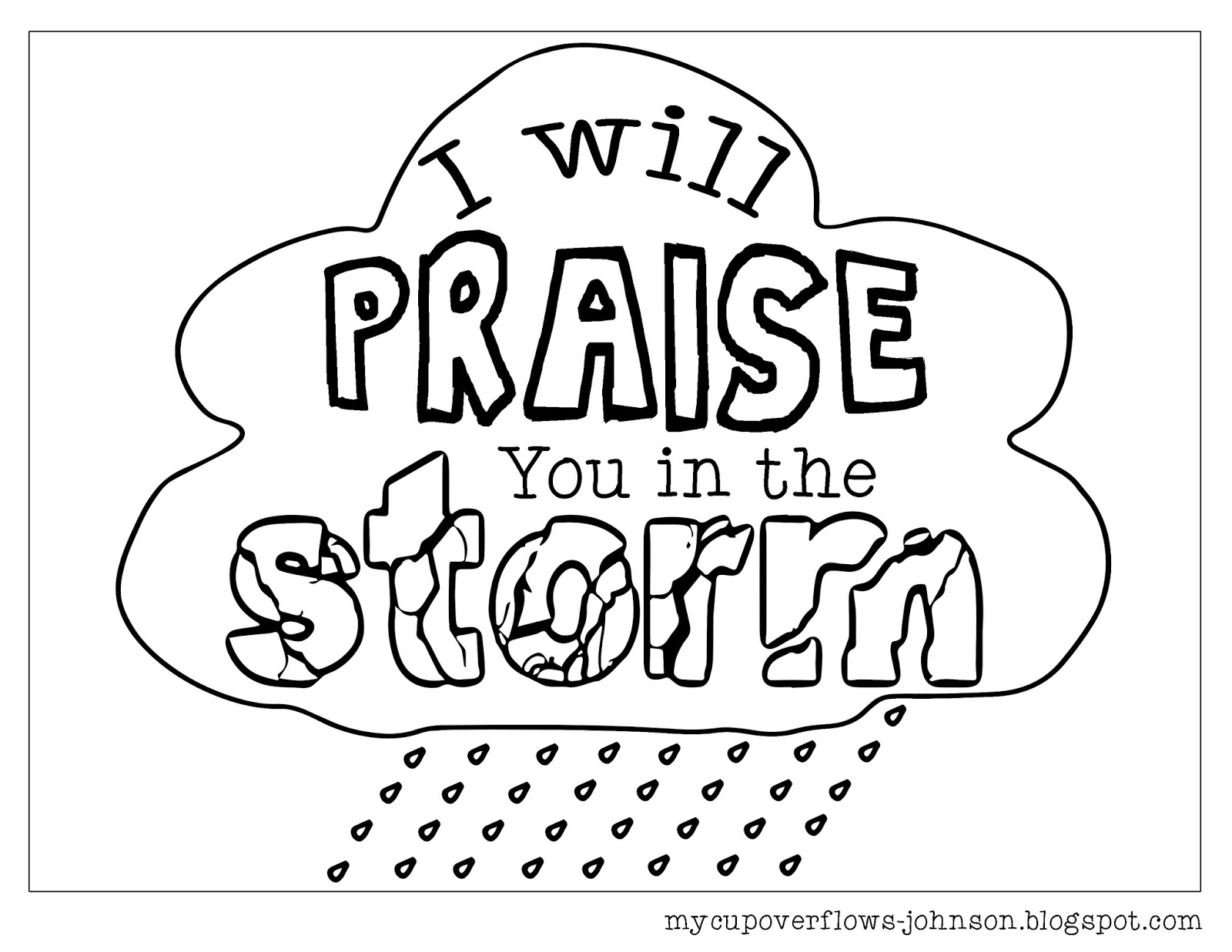 coloring pages praise - photo#18