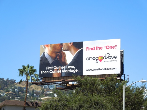 Find the One gay dating billboard