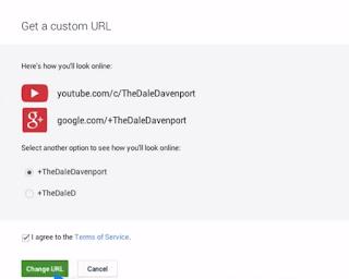 custom url change