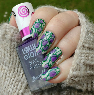 Fab Ur Nails FUN14, Barry M Purple pop
