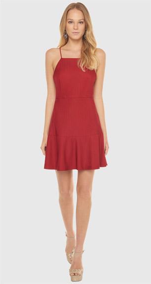 vestido curto vermelho para festas de final de ano BO.BÔ