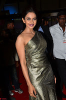 Rakul Preet Singh in Shining Glittering Golden Half Shoulder Gown at 64th Jio Filmfare Awards South ~  Exclusive 011.JPG