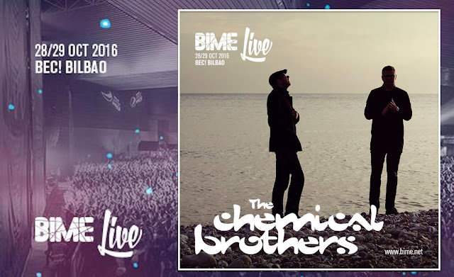 Cartel de la actuación en BIME de The Chemical Brothers