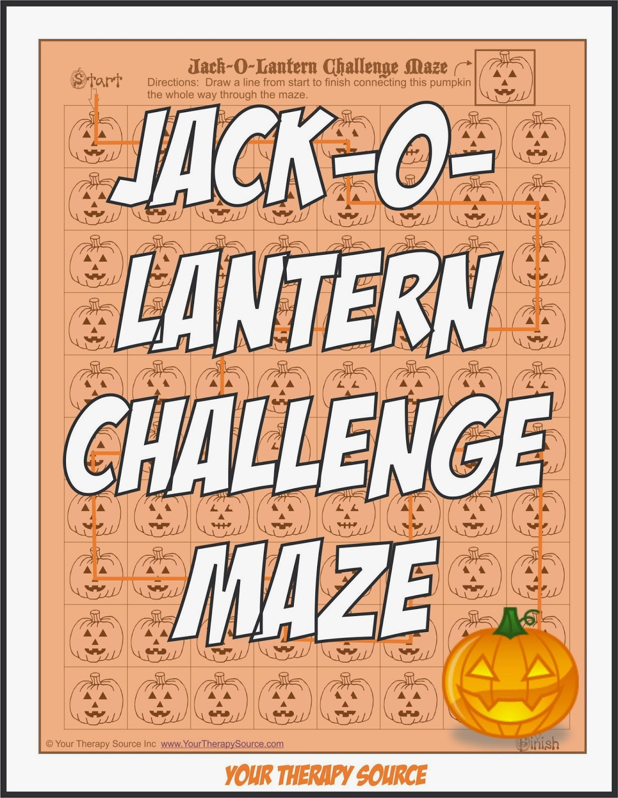 Jack O Lantern Challenge Maze Your Therapy Source