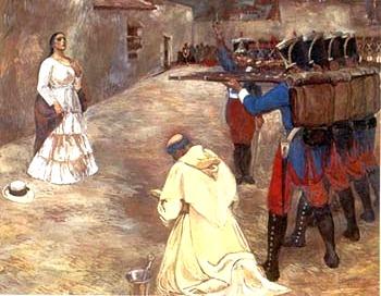 Ilustración de la muerte de María Parado de Bellido