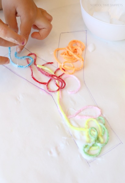 yarn alphabet craft