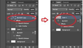 Membuat Teks Efek Bloody Dengan Photoshop Cs6