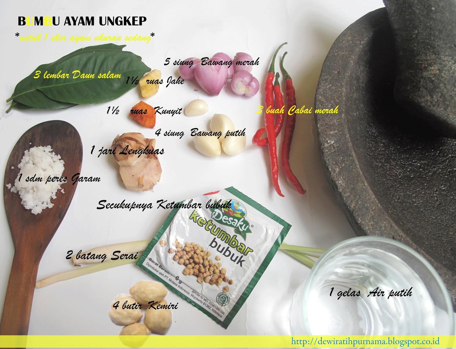 Resep Bumbu Ungkep Ayam Goreng Dan Bakar Dewi Ratih Purnama Cheese Rahasia