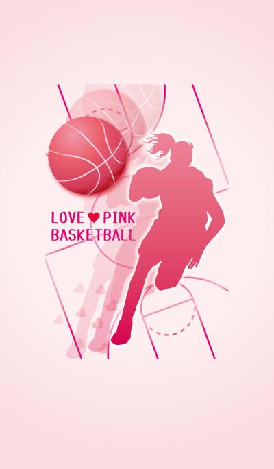 Love Pink Basketball Girl