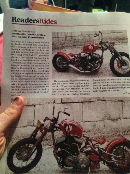 Feature in Easyriders!!!