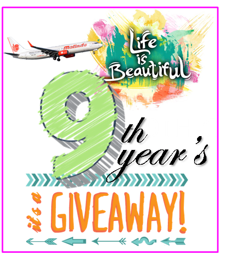 Life is Beautiful 9th Giveaway!